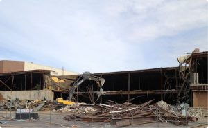 800,000 sq. ft. shopping mall was demolished to make room for the new outdoor Richardson Square shopping center.